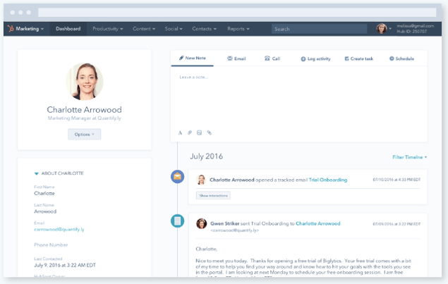 Lead nurturing is simple with HubSpot's CRM.