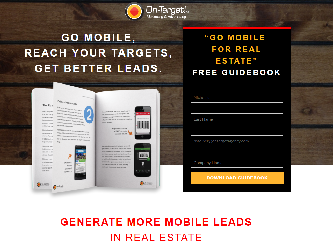 Get visitors' information by utilizing landing pages.