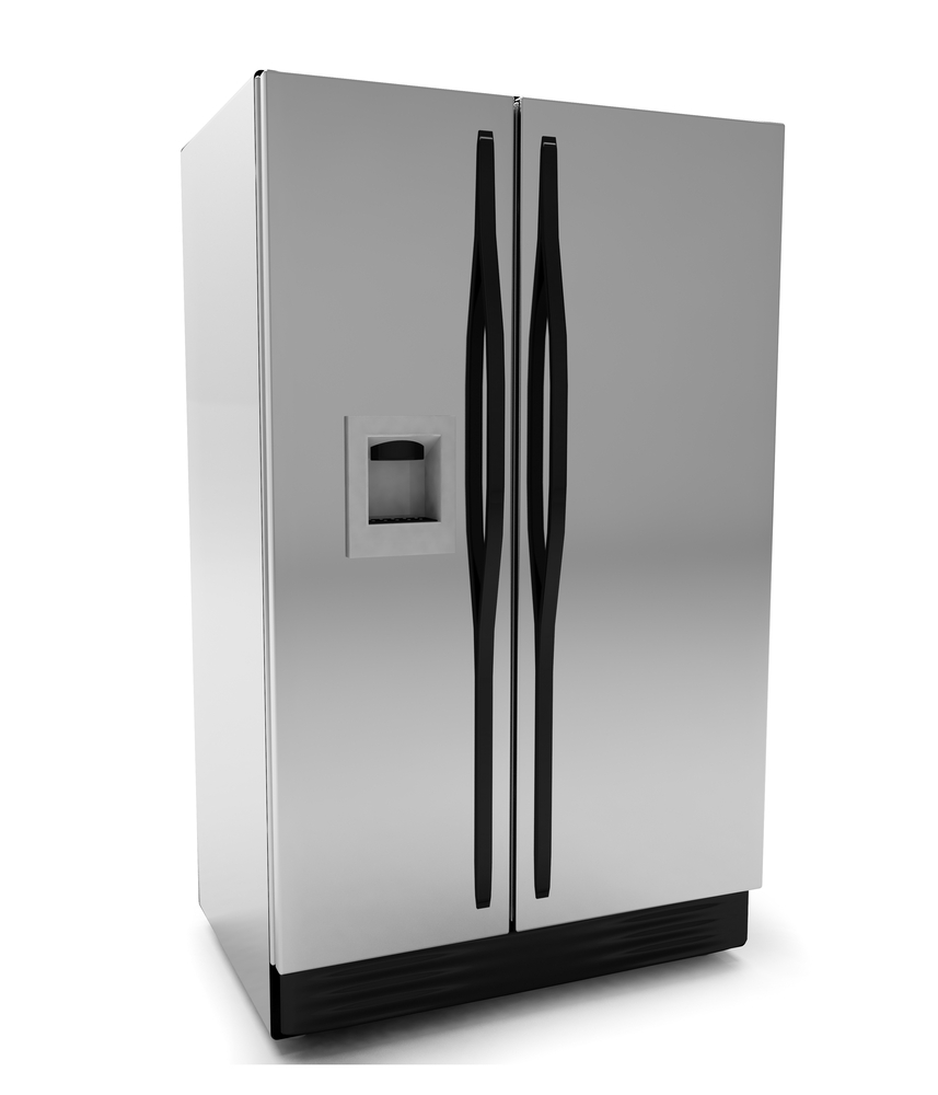 Render of a refrigerator on 3D isolated on white