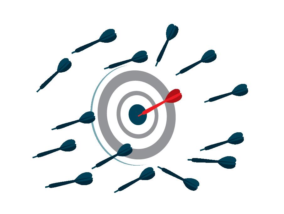 Image of a dartboard