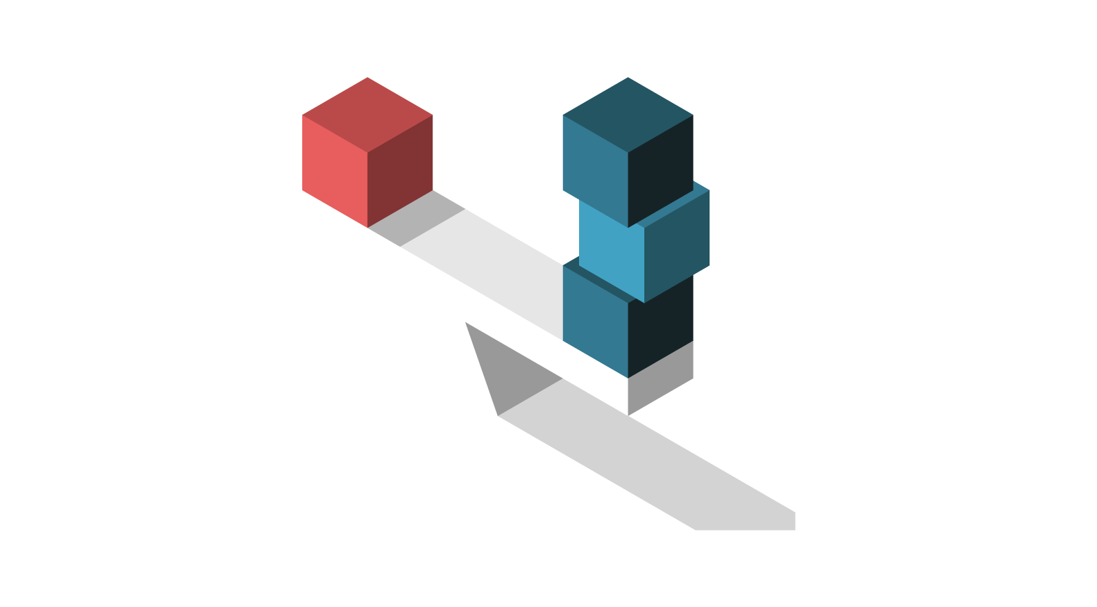 image of blocks balancing on a board