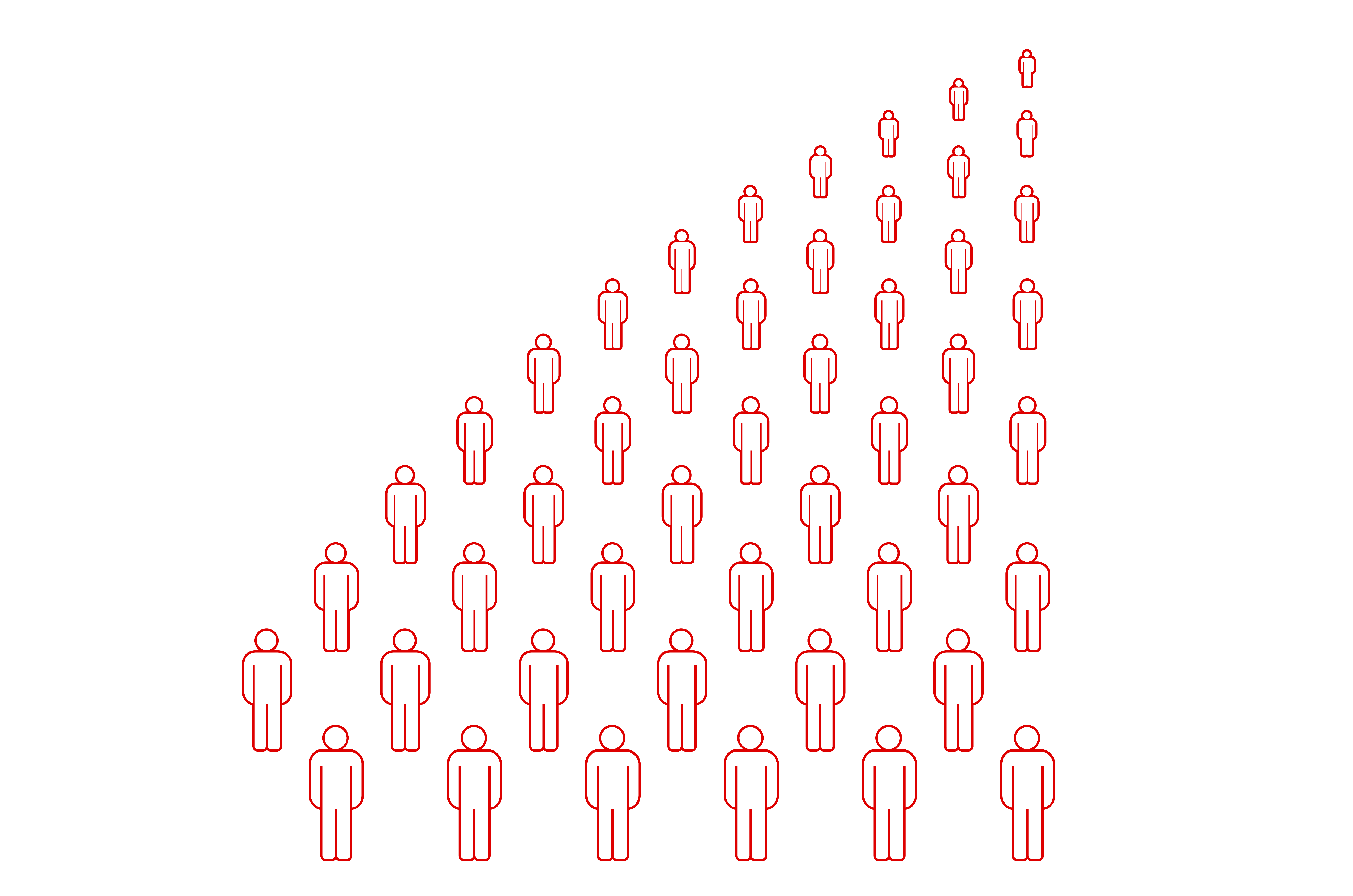 image of people standing in rows