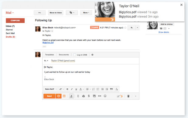 Track documents within your inbound sales portal to keep the conversation going