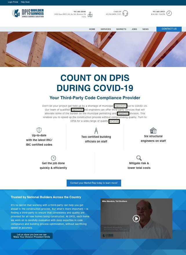 DPIS.com web page
