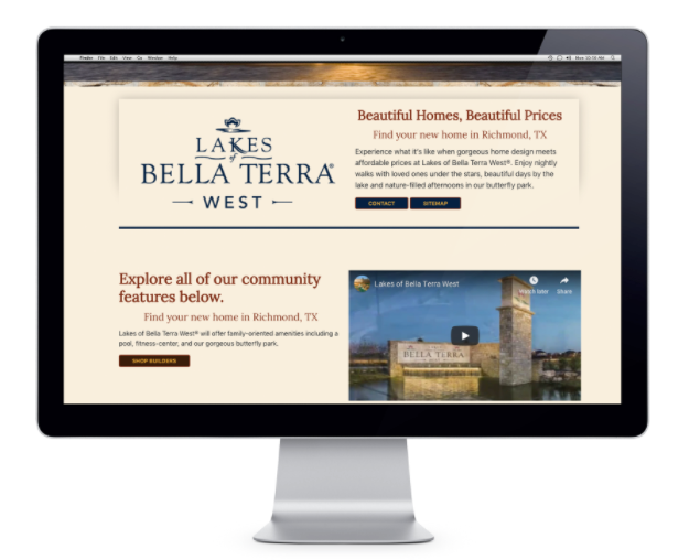 Lakes of Bella Terra Website