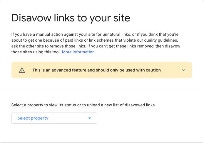 Google Disavow tool example