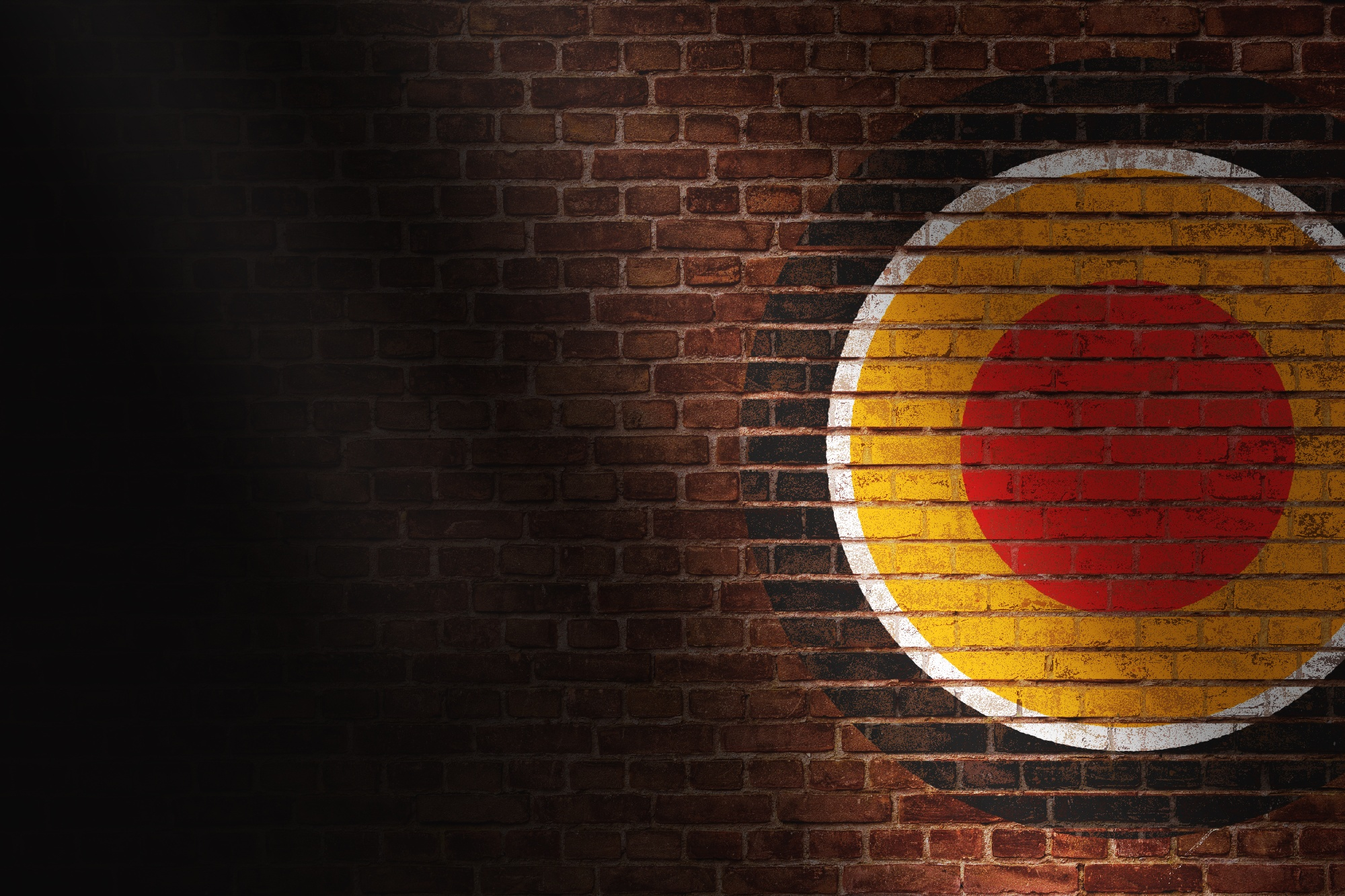 Marketing Firm Zoom Backdrop with logo on brick
