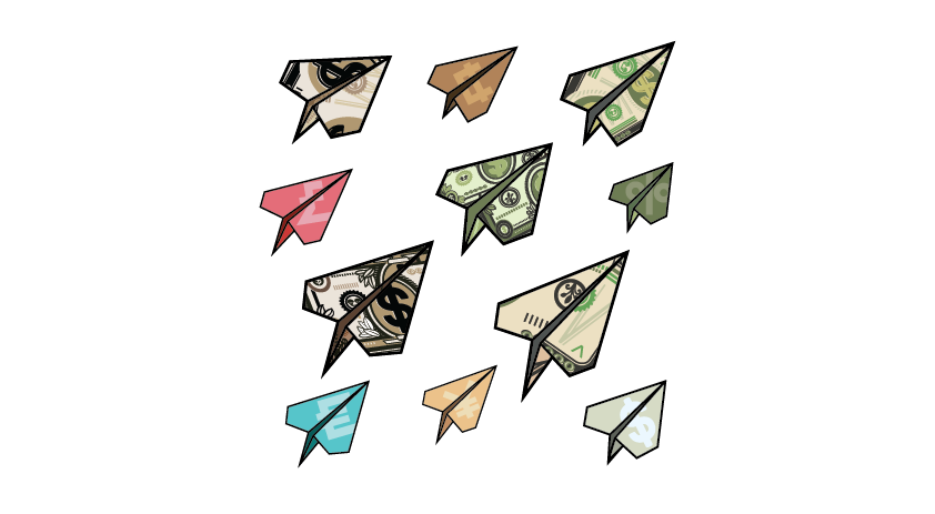 Image of paper airplanes